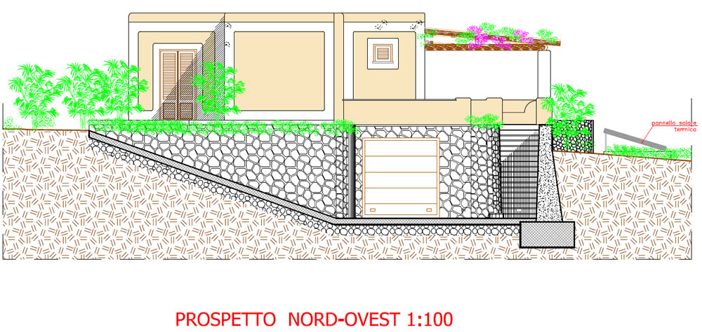 prospetto nord-ovest